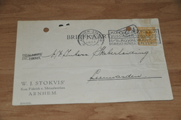 35-   W.J. STOKVIS, ARNHEM - 1925 - Kaarten