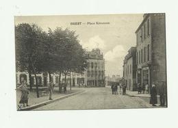 29 - BREST - Place Keruscun Animée Bon état - Brest