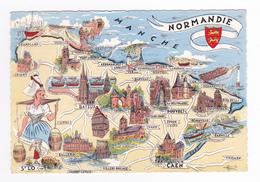 Les Provinces De France N°2 La NORMANDIE Postée De Ver Sur Mer En 1963 Villes Folklore Monuments - Haute-Normandie