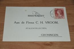 38-   FIRMA C.H. VROOM, STALENCOLLECTIEN, GRONINGEN - 1925 - Kaarten