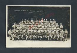 MILITARIA CARTE PHOTO MILITAIRE GROUPE DE SOLDATS SOUVENIR DU 152 Ri COLMAR 1933 NON ECRITE : - Characters