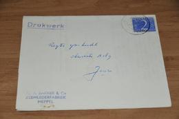 36-   DRUKWERK VAN F.A. BAKKER & CO. ZEEMLEDERFABRIEK, MEPPEL - 1952 - Zonder Classificatie