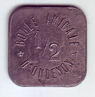 Monnaie De Nécessité - LOIRE 42 - La Ricamarie - Boule Amicale D'Ondenon. 1/2 - - Monetari / Di Necessità