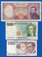 Italie  3  Billets - [ 2] 1946-… : Republiek