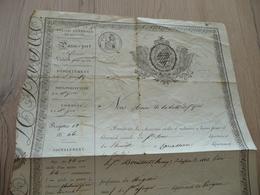 Passeport Pour L'intérieur Valable 1 An Saint Pons à Carcassonne 1832 Bouissier Mégisier - Documents Historiques