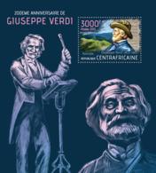 Central Africa  2013  Giuseppe Verdi,Italian Opera Composer - Central African Republic