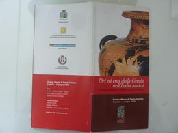 """Pieghevole Mostra """"DEI ED EROI DELLA GRECIA NELL'ITALIA ANTICA Treviso, Museo Di S. Caterina 2005"""" - Dépliants Turistici"""