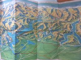 """Mappa A Colori """"SOUVENIR DEI LAGHI""""  Anni '50 - Carte Topografiche"""