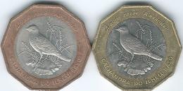Cape Verde - 1994 - 100 Escudos - Raso Lark - Bronze Outer Ring (KM39) & Brass Outer Ring (KM39a) - Cap Vert