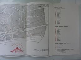 """Pieghevole Con Mappa """"ARMA DI TAGGIA"""" 1969 - Dépliants Turistici"""