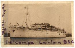 - Le Président DOUMER - Cie Des Messageries Maritimes, Transport De Troupe En 1940, Non écrite, TBE,  Scans. - Commerce