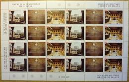 Z1419 SOVRANO MILITARE ORDINE DI MALTA SMOM 2001 Museo Dell'Ordine Nel Palazzo Del Gran Maestro Di Rodi, Foglio Completo - Sovrano Militare Ordine Di Malta