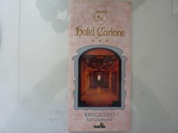 """Pieghevole Illustrato """"HOTEL CARLONE BREGUZZO Val Giudicarie, Trentino"""" Anni '80 - Dépliants Turistici"""