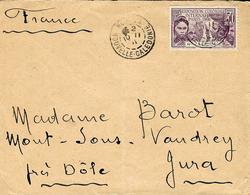 1931- Enveloppe Nouméa Pour La France Affr. 50 C  EXPO COLONIALE  Seul - Briefe U. Dokumente