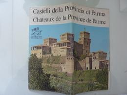"""Pieghevole Illustrato """"CASTELLI DELLA PROVINCIA DI PARMA"""" Anni '80 - Dépliants Turistici"""