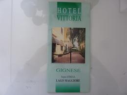 """Pieghevole Illustrato """"HOTEL VITTORIA GIGNESE Sopra Stresa, Lago Maggiore ( NO )"""" - Tourism Brochures"""