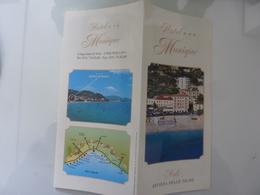 """Pieghevole Illustrato """"HOTEL MONIQUE NOLI ( SV )"""" - Dépliants Turistici"""