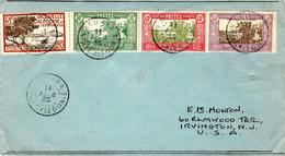 1935- Enveloppe De Nouméa Pour Les U S A - Affr. à  1,40 F - Briefe U. Dokumente