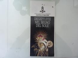 """Pieghevole Illustrato """"Città Di Rivarolo Canavese CASTELLO MALGRA'  MASCHERE E COSTUMI, NEL SEGNO DEL SOLE"""" 1995 - Dépliants Turistici"""