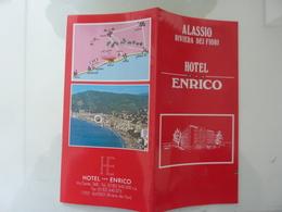 """Pieghevole Illustrato """"HOTEL ENRICO ALASSIO ( SV )"""" - Dépliants Turistici"""