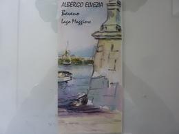 """Pieghevole Illustrato """"Hotel ELVEZIA BAVENO Lago Maggiore"""" - Dépliants Turistici"""