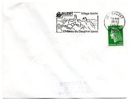 DROME - Dépt N° 26 = SAUZET 1969 = Flamme Codée SUPERBE = SECAP Illustrée  'Château Du DAUPHIN LOUIS' - Marcophilie (Lettres)