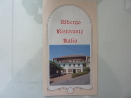 """Pieghevole Illustrato """"Albergo Ristorante ITALIA Maccagno ( VA )"""" Anni '80 - Tourism Brochures"""