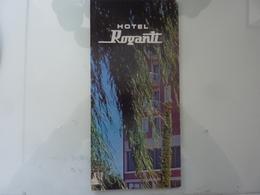 """Pieghevole Illustrato """"Albergo ROGANTI Macerata"""" Anni '70 - Dépliants Turistici"""