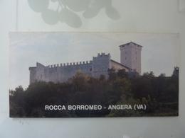 """Pieghevole Illustrato """"ROCCA BORROMEO - ANGERA ( VA )"""" - Dépliants Turistici"""