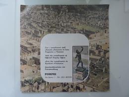 """Pieghevole Illustrato  Con Mappa """"POMPEI Azienda Autonoma Di Turismo E Soggiorno"""" Anni '70 - Dépliants Turistici"""