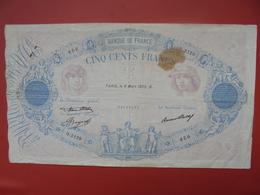 FRANCE 500 FRANCS 1933 CIRCULER - 1871-1952 Antichi Franchi Circolanti Nel XX Secolo
