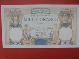 FRANCE 1000 FRANCS 1938 (U5083) PEU CIRCULER/SPLENDIDE - 1871-1952 Antichi Franchi Circolanti Nel XX Secolo