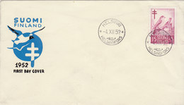 FINLAND 1952 FDC With Bird.BARGAIN.!! - Songbirds & Tree Dwellers
