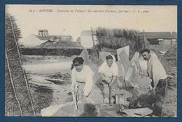 ANGERS - Carrières D' Ardoises De Trélazé - Les Ouvriers D'en Haut , Fendeurs - Angers