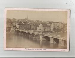 BASEL (BALE) DIE RHEINBRUCKE MIT HOTEL DREI KONIGE  (PHOTO 1877 ) - Lugares