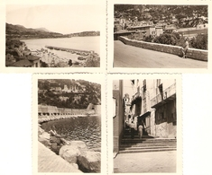 Lot De 4 Photographies Anciennes, Villefranche Sur Mer (06), Rue, Route, Baie, Photos De 1951 - Lieux
