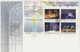 FINLAND 1993 FDC With Block Of Opera.BARGAIN.!! - Finlande