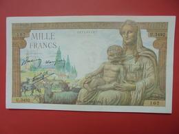 FRANCE 1000 FRANCS 1943 PEU CIRCULER - 1871-1952 Antiguos Francos Circulantes En El XX Siglo