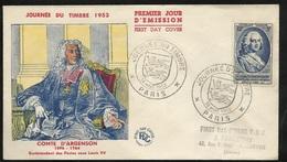 FDC  Lettre Illustrée Premier Jour Paris Le 14/03/1953 N°940 Journée Du Timbre Paire 691 B/TB Soldé à Moins De 20% ! ! ! - FDC