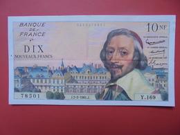 FRANCE 10 NOUVEAUX FRANCS 1961 PEU CIRCULER (EPINGLES) - 1959-1966 ''Nouveaux Francs''