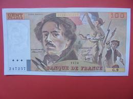 FRANCE 100 FRANCS 1978 ALPHABET G.9 PEU CIRCULER (PAS DE TRACES EPINGLES) - 1962-1997 ''Francs''