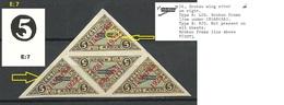 Estland Estonia 1923 Michel 42 As 4-block Incl E: 7 & EV: 26 ERROR Abart Variety On Basic Stamp MNH NB! 1 Stamp Thinned! - Estland