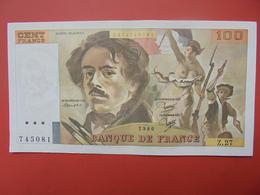 FRANCE 100 FRANCS 1980 ALPHABET Z.27 PEU CIRCULER (PAS DE TRACES EPINGLES) - 1962-1997 ''Francs''