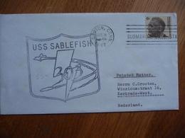 (us) Schiffpost Shipmail USS SABLEFISH S.S. 303 1967  UNITED STATES. - Bateaux