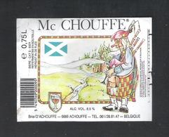 BRASSERIE D' ACHOUFFE - ACHOUFFE - MC CHOUFFE - 75 CL - 1 BIERETIKET  (BE 030) - Beer