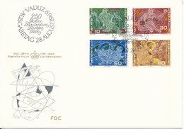 Liechtenstein FDC 28-8-1969 250th Anniversary Of Liechtenstein Complete Set Of 4 With Cachet - FDC