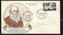 FDC  Lettre Illustrée Premier Jour Bourges Les 05/03/1955 N°1016 Pierre Martin Circulé B/TB Soldé à Moins De 20% ! ! ! - FDC