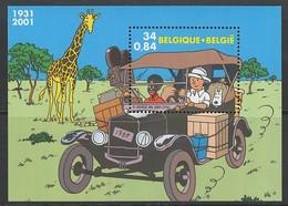 BLOC NEUF DE BELGIQUE - TINTIN AU CONGO N° Y&T 88 - Bandes Dessinées