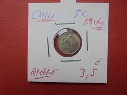 CHILI 5 CENTIMOS 1904 ARGENT - Chile