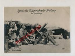 MITRAILLEUSE Russe Anti Aerienne-DÜNABURG-Grosse CP PHOTO Allemande-Guerre 14-18-1WK-Militaria-Paul HOFFMANN - Oorlog 1914-18